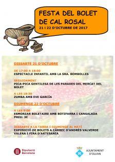 Festa del Bolet de Cal Rosal 2017