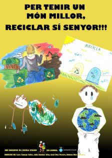 Cartell per tenir un món millor, reciclar sí senyor